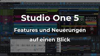 PreSonus Studio One 5 - Features und Neuerungen auf einen Blick