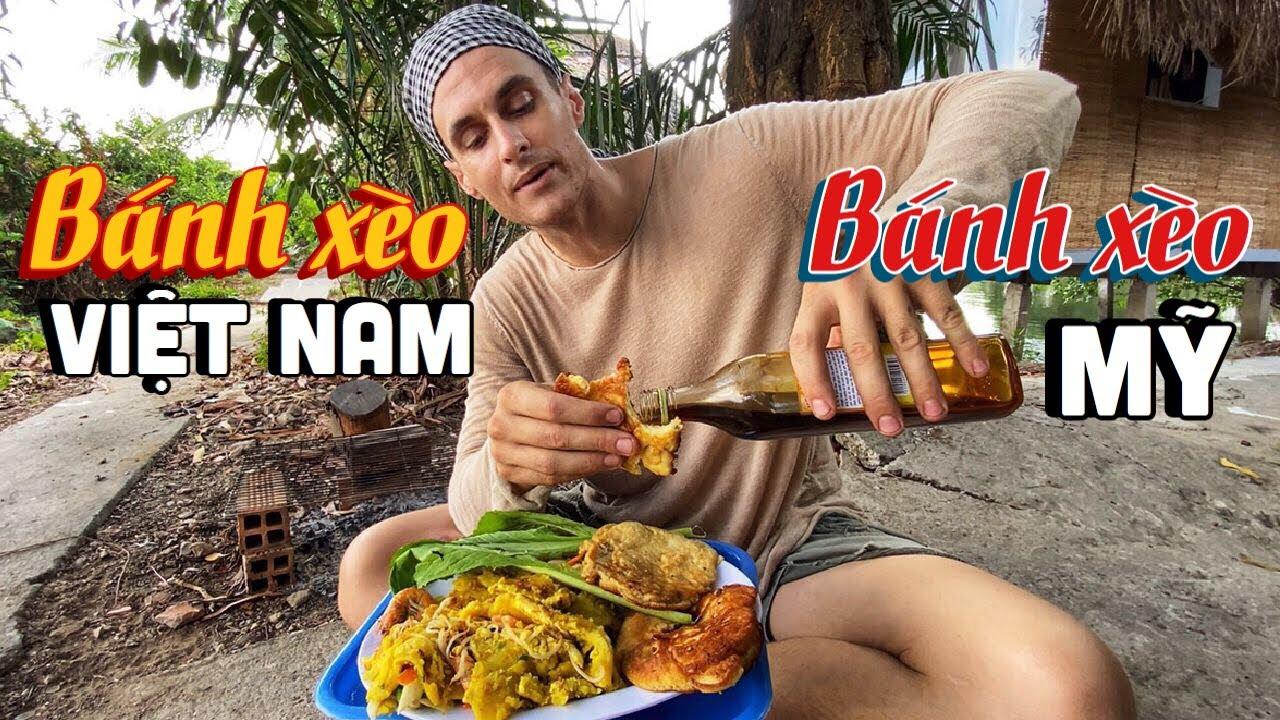 Cooking and Tasting Vietnamese and American Pancakes | Bánh Xèo Mỹ VS Việt Nam, CÁI NÀO NGON HƠN!!?