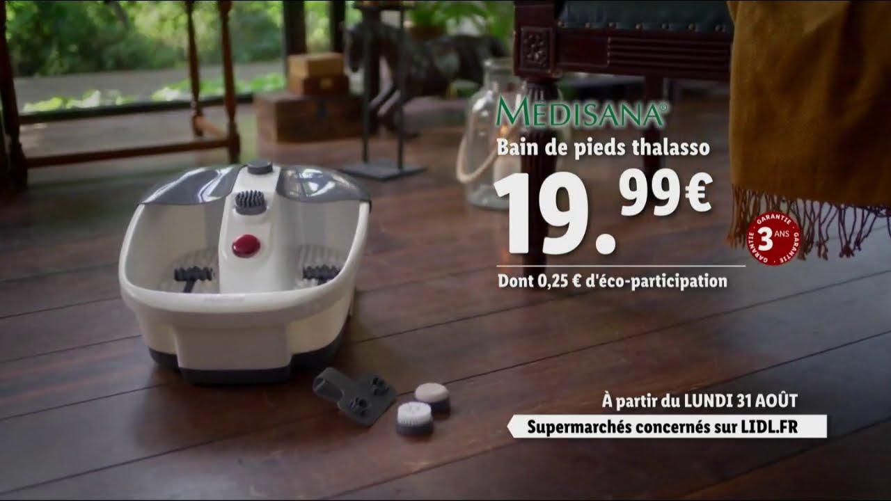 """Musique de la pub Lidl Bain de pieds thalasso Medisana """"lundi 31 août 2020""""  2021"""