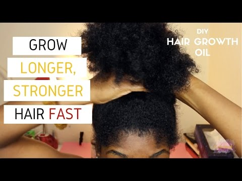 DIY Hair Growth Oil for LONGER, STRONGER Natural Hair