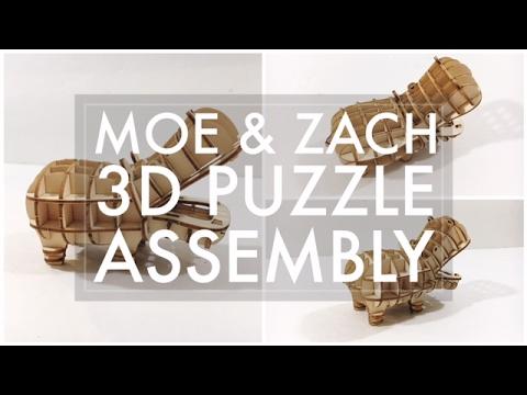 Moe & Zach 3d Puzzle Build // Ki-Gu-Mi Hippo - 516vlogs