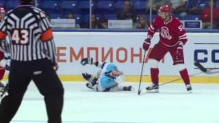 Кемпе бьет Шумакова в колено / Kempe knees Shumakov 2 sec to the final horn