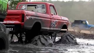 Mud Slut vs Floored Whore - Mud Truck Tug-O-War