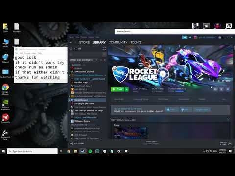 Rocket League failed to save file PC (Fixed) steam / Epic