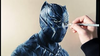 Cómo Dibujar a Black Panther Realista | How to Draw Realist Black Panther (English Subtitles CC)