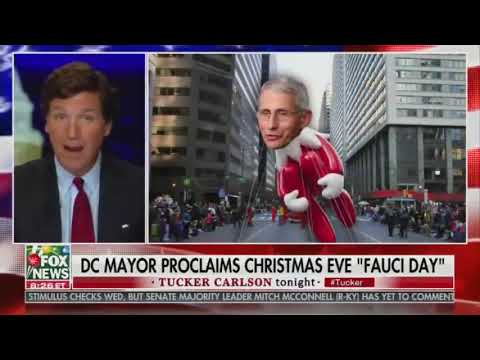 SAINT DR. ANTHONY FAUCI DAY CELEBRATED ON CHRISTMAS EVE  Declared by DC Mayor