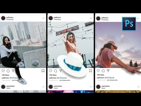 [Photoshop Tutorial] Instagram Creative Photo Effect - 3D Pop Out thumbnail