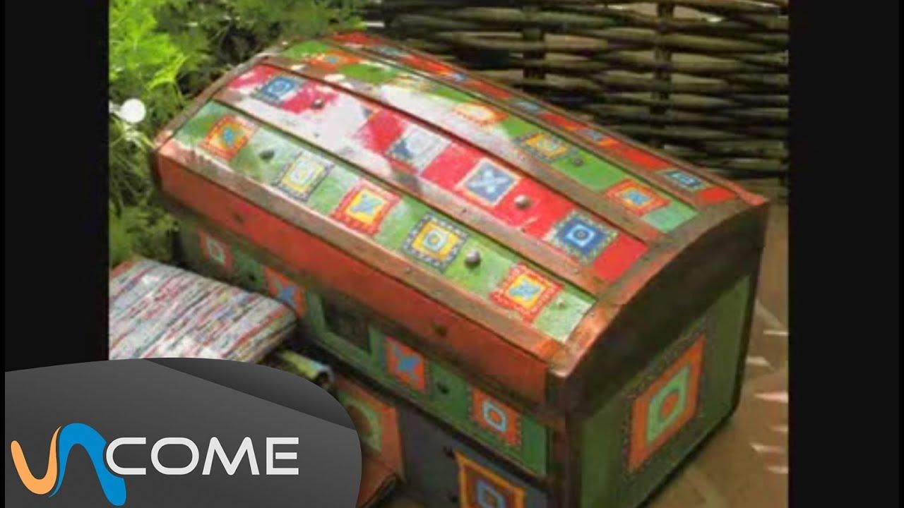 Restaura il tuo vecchio baule di legno youtube - Come rivestire internamente un baule ...