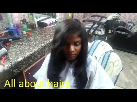 Medium length Layer hair cut on frizzy hair ||Change your look with layer cut