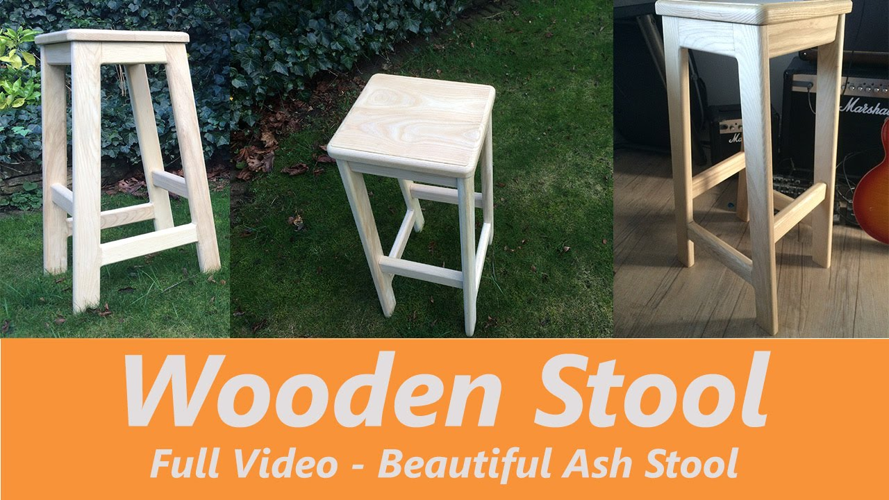 How to Make a Wooden Bar Stool Youtube