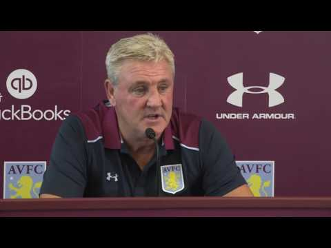 Steve Bruce speaks to the media ahead of his return to Birmingham City with Aston Villa