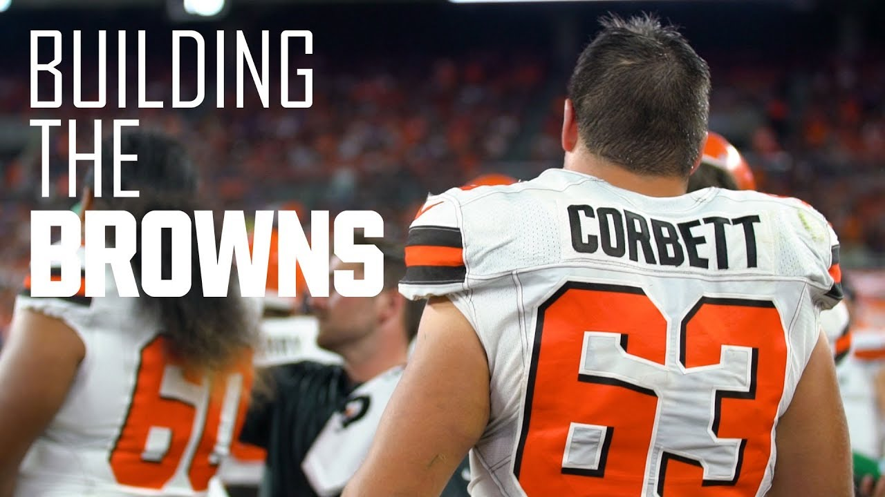 timeless design 44ffe 74ff0 Austin Corbett gets mic'd up for first Browns home game | Building the  Browns