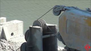 Wire Sawing in Indiana (Madison Bridge) [Concrete Cutting & Breaking Co]