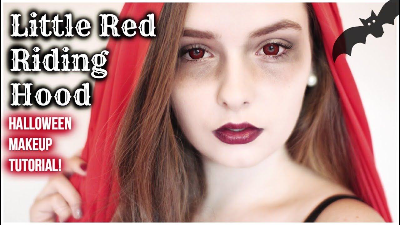 Little Red Riding Hood Halloween Makeup Tutorial! - YouTube