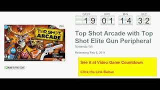 Top Shot Arcade with Top Shot Elite Gun Peripheral Wii Countdown