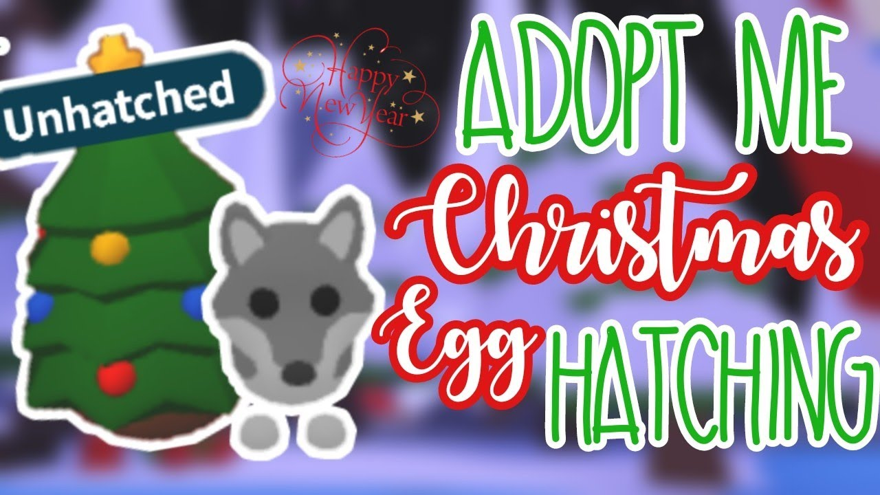 Late Christmas Egg hatching in Adopt Me   Adopt Me   ROBLOX - YouTube