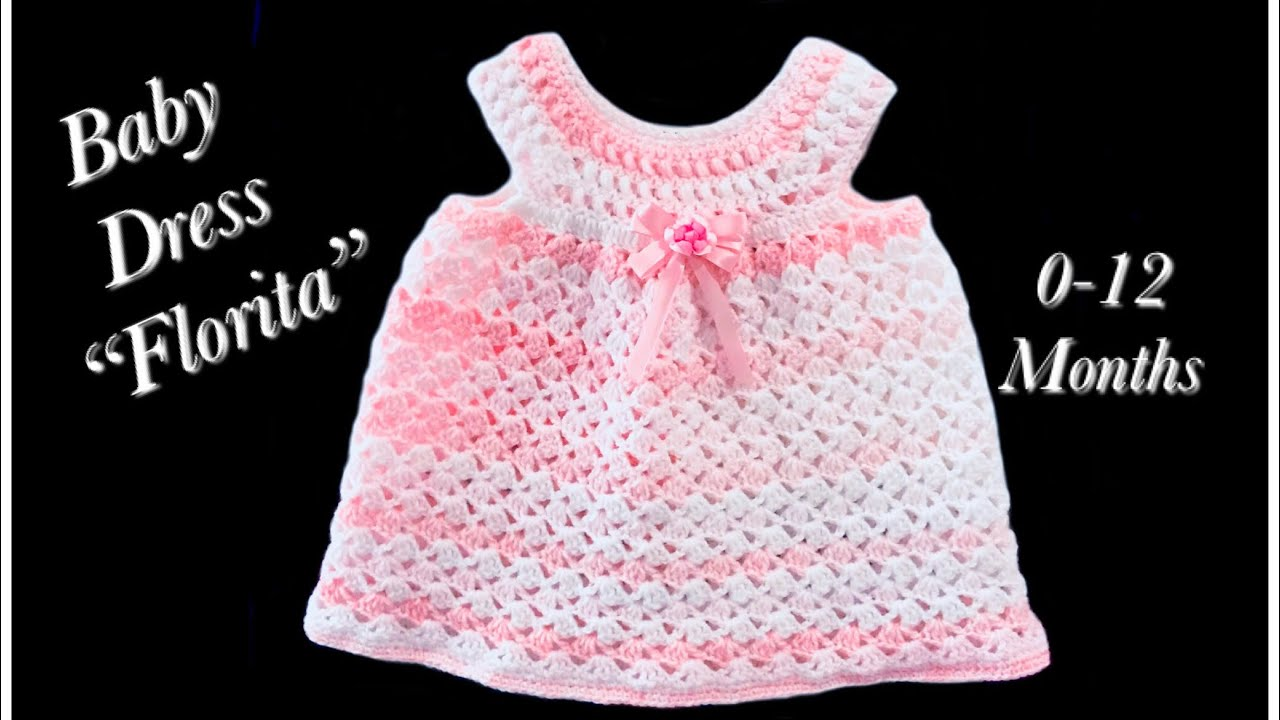 Crochet Baby Girl Dress Florita Fast And Easy For 1 3 Months By