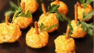 How To Make Halloween Pumpkin Cheese Balls