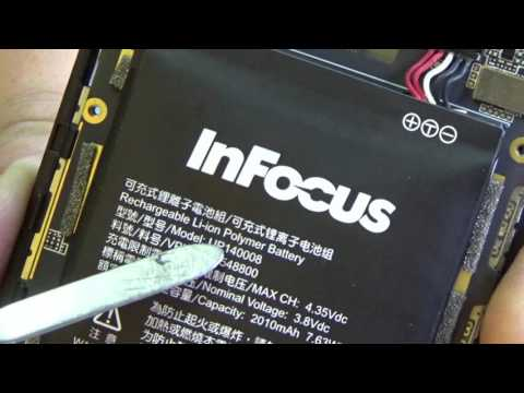 Как извлечь АКБ в телефоне InFocus M2? (How to remove the battery in the phone InFocus M2?)