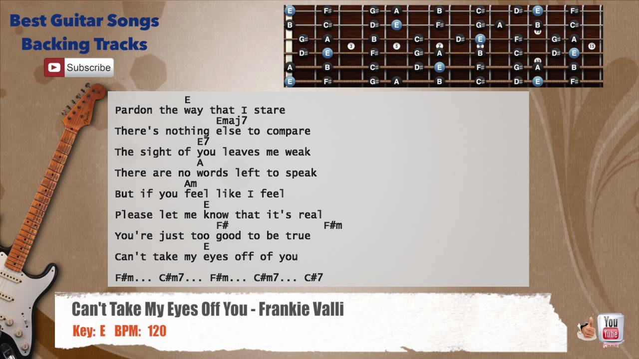 Can't Take My Eyes Off You - Frankie Valli Guitar Backing ...