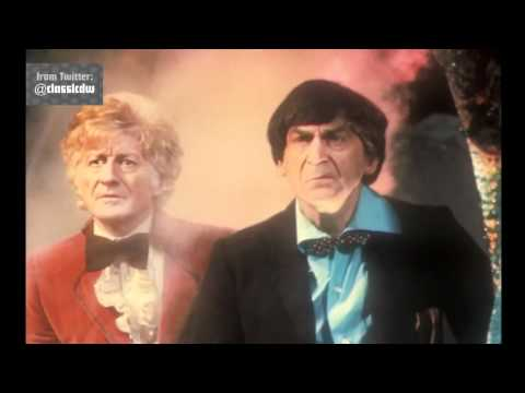 Exclusive First Look: Pertwee and Troughton - Doctor Who - The Three Doctors