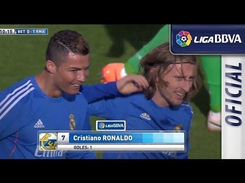 Golazo de Cristiano (0-1) en el Real Betis - Real Madrid