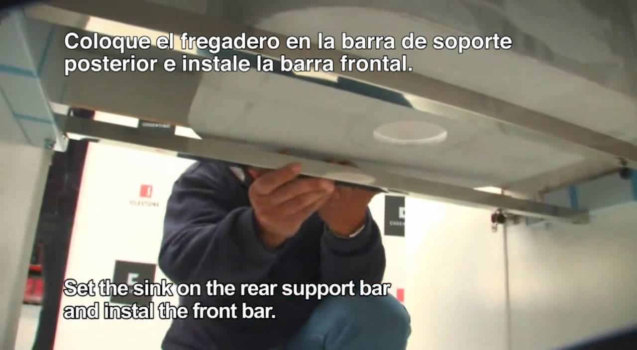 Instalaci n de fregaderos integrity bajo tope subtitulado - Pica silestone ...