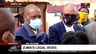 Magashule visits the home of the late Rebecca Kotane, gets questioned about Zuma's legal woes