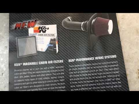 K & N performance air filter cleaning and oiling