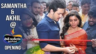 Samantha And Akhil at South India Shopping Mall Opening - Somajiguda, Hyderabad | TFPC