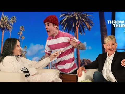 ELLEN&39;S  PRANK ON BILLIE EILISH JUSTIN BIEBER