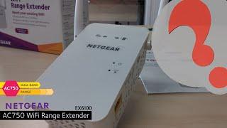 netgear ex6100 ac750 wifi range extender how to setup and install