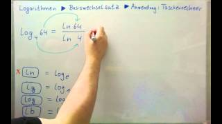 Logarithmen ►Basiswechselsatz ►Anwendung: Logarithmen auf dem Taschenrechner
