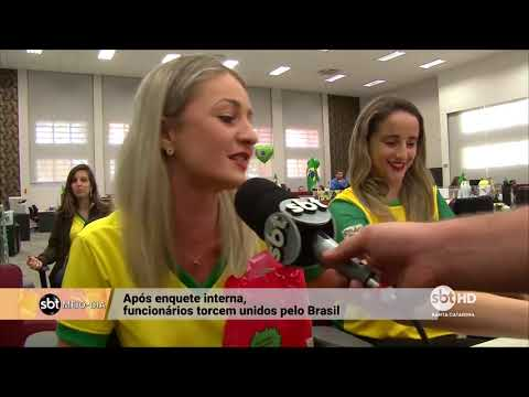 Em Criciúma, empresa para o expediente para que funcionários possam assistir à Seleção Brasileira