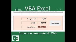 Application connectée à Internet en VBA Excel