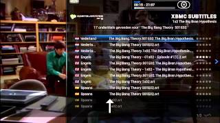 Ondertitels instellen in XBMC