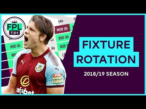 FIXTURE ROTATION PAIRS for the 2018/19 Season | Fantasy Premier League Football