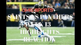 ALVIN KAMARA IS A BEAST | SAINTS vs Panthers WEEK 13 highlights reaction