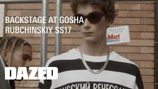 Backstage at Gosha Rubchinskiy SS17
