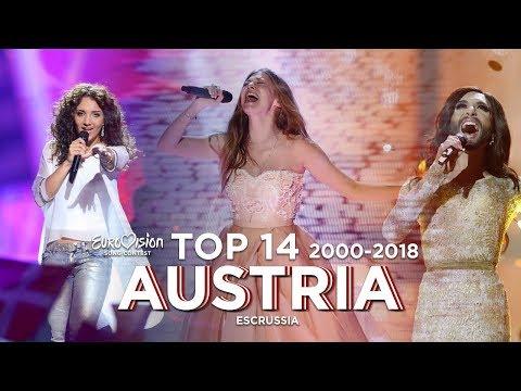 Austria in Eurovision - Top 14 (2000-2018)