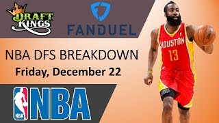 NBA DFS Breakdown - Friday, December 22th 2017 - DraftKings and Fanduel