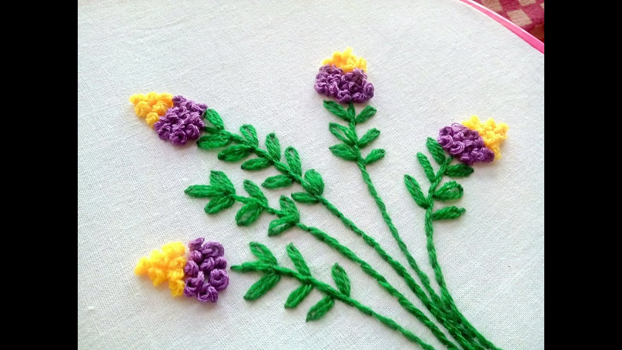Hand Embroidery - Floral Embroidery Design ~ French Knot ...