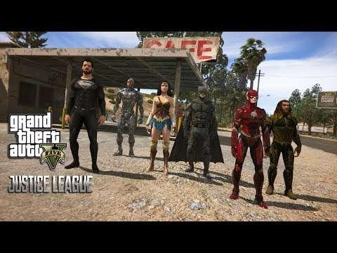 GTA 5 - JUSTICE LEAGUE VS STEPPENWOLF AND DARKSEID (GTA 5 PC MODS NVR)