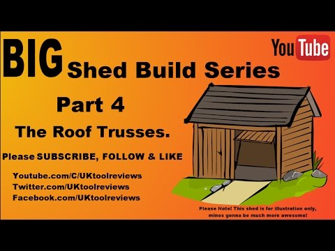 How to build a shed series. Part 4: The Roof Trusses. (Apex Roof) #BigShedBuild