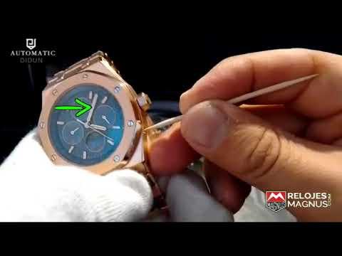 a0ac21045c53  INSTRUCTIVO EN ESPAÑOL  Reloj Royal One OffShore Calendario Perpetuo Moon  Phase  RelojesMagnus.com