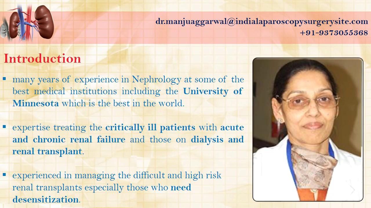 Dr Manju Aggarwal | Best Nephrologist | Artemis Hospital Gurgaon