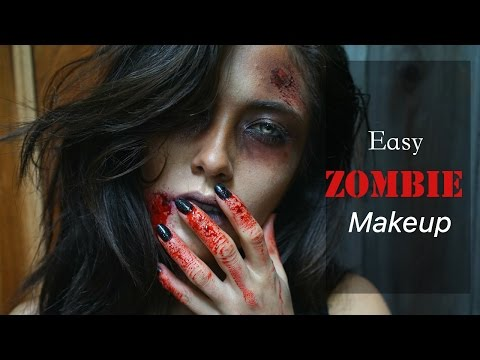Easy Zombie Makeup Using Makeup Geek Shadows