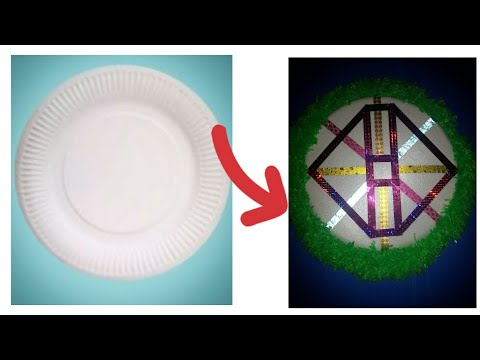 A beautyful DIY home decor craft from disposable plates/waste material craft