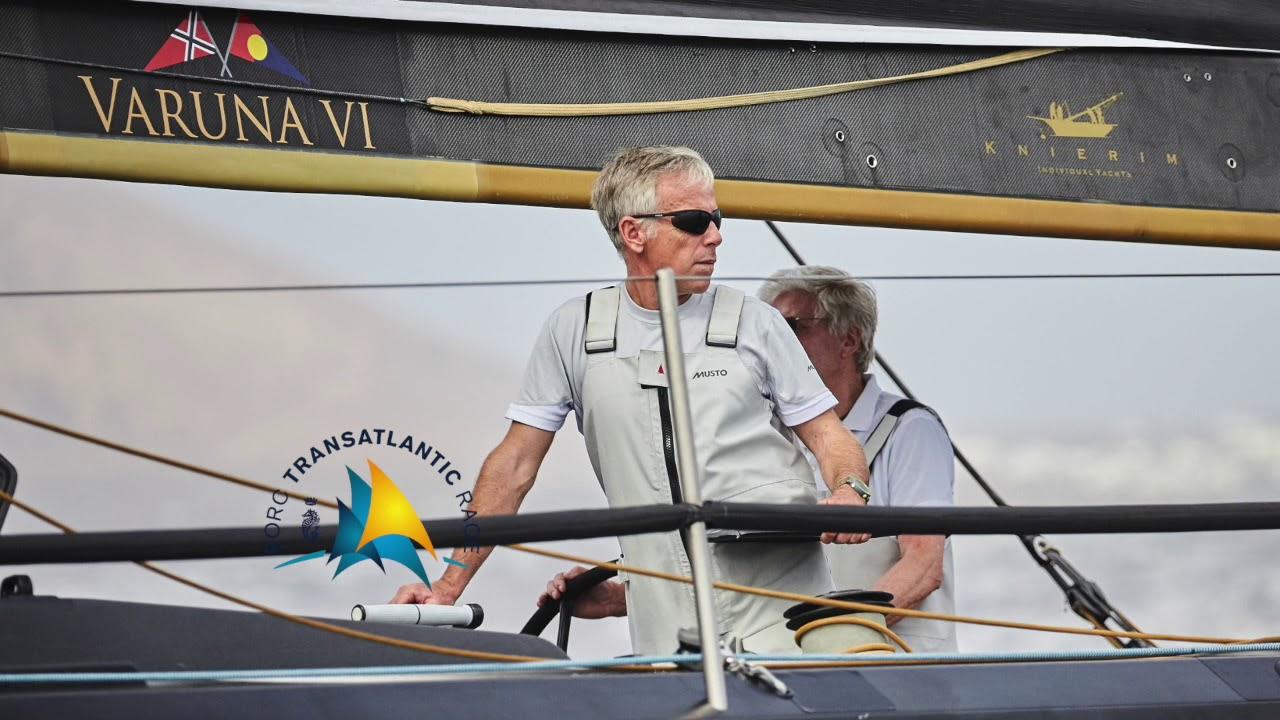 2017 RORC Transatlantic Race Mike Broughton Varuna by sat.phone 28 11 17
