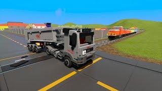 MASSIVE LEGO Cars, Fire Trucks & SUV's vs. Train - Brick Rigs Gameplay - Lego Toy Destruction